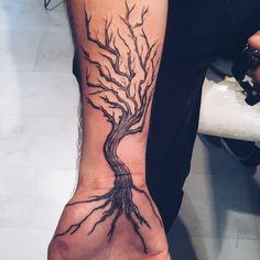 123 Brilliant Tree Tattoo Designs And Their Meanings nice  Check more at http://fabulousdesign.net/tree-tattoos-meanings/