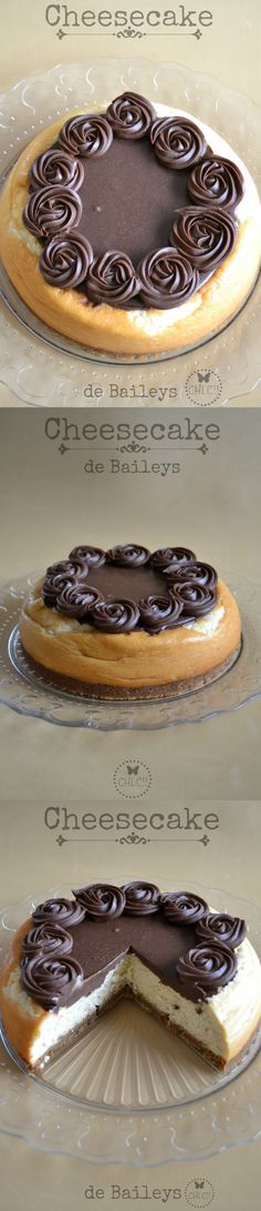 Tarta de queso de Baileys y chocolate Fun Desserts, Delicious Desserts, Dessert Recipes, Yummy Food, Cake Cookies, Cupcake Cakes, Yummy Treats, Sweet Treats, Gateaux Cake