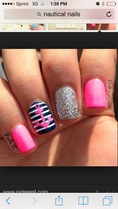 Pink anchor nails