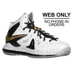 Nike Lebron X P.S. Elite + Enabled - Mens - White Metallic Gold Black 0fb073414