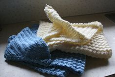 I crocheted hooded baby blankets caron inst. on 1 lb skein