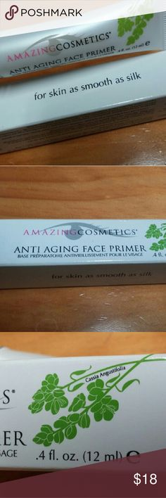 Amazing Cosmetics anti-aging face primer A primer with vitamin E and special botanicals to hydrate skin while providing a smooth canvas  for foundation to stay better longer. Brand new. Seal unbroken. Sephora Makeup Face Primer