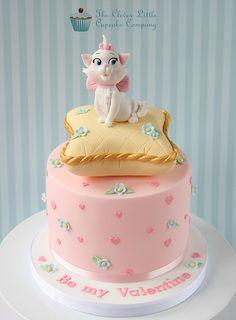 Aristocats Valentine's Cake