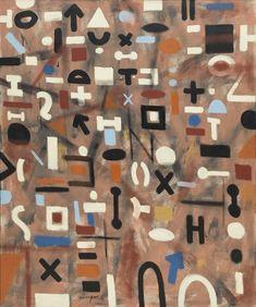 Adolph Gottlieb. Composition. 1955