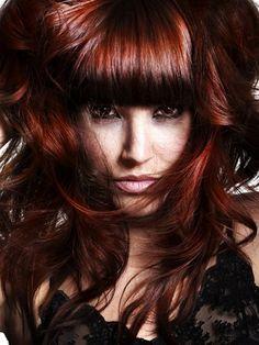 Dark Auburn Red Hair Color