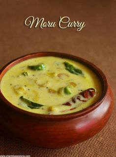 Moru Curry Recipe Veg Recipes, Curry Recipes, Seafood Recipes, Indian Food Recipes, Vegetarian Recipes, Cooking Recipes, Kerala Recipes, Lunch Recipes, Kulambu Recipe