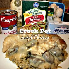 This crock pot angel chicken recipe taste complex but with simple ingredients and a few hours in the crock pot is all you need to a creamy chicken meal from your crock pot.