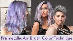 PrisMetallic Airbrushing Haircolor Technique by Guy Tang - Hair Color - Modern Salon African Hairstyles, Bride Hairstyles, Cool Hairstyles, Mens Hair Colour, Hair Color For Black Hair, Guy Tang Hair, Hair Color Cream, Thin Hair Styles For Women, Colored Hair Tips