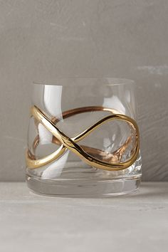 Glimmer-Wrapped Glassware: Highball, DOF, Red Wine, White Wine, Martini, and Flute available | Anthropologie