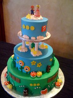 check out this super mario brothers gamers cake by Creative Memories Cakes at The Northeast Wedding Chapel last week.  www.NortheastWeddingChapel.com