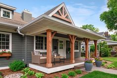 Porch Gazebo, Front Porch Deck, Front Porch Remodel, Front Porch Posts, Front Porch Addition, Front Porch Makeover, Front Porch Design, House Front, Porch Swing