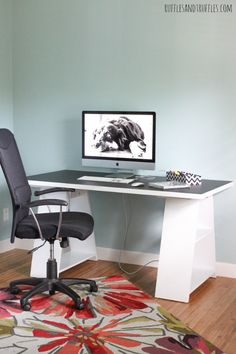 Pretty Desks for Home Offices | home office setup