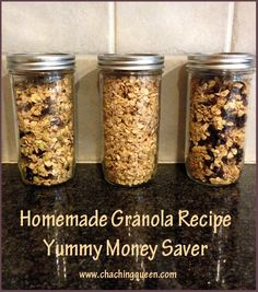 Homemade Granola Recipe - Eat a Healthy Breakfast and Save Money