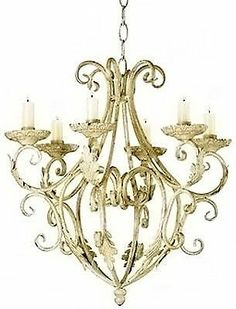 Shabby Cottage Elegant Chic Royalty Candle Chandelier