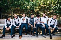 Ideas Backyard Wedding Groom Attire Boys For 2019 Groomsmen Poses, Groomsmen Suspenders, Groomsmen Outfits, Groom And Groomsmen Attire, Bridesmaids And Groomsmen, Navy Blue Groomsmen, Wedding Suspenders, Navy Suits, Groom In Vest