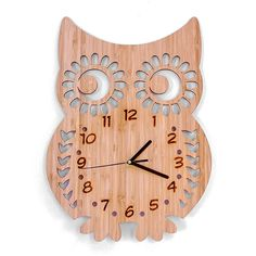 Bamboo Clock - Owl b