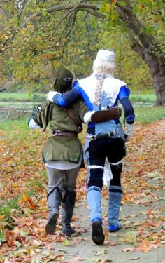 #Tatasenko Mana as Link & Sheik crossplays   #OoT #Zelda #crossplay