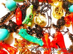 """The """"Poseidon"""" Collection by Pericles Kondylatos arises from the deep blue Aegean sea! Made of Poseidon's treasures: pearls, corals and lava!"""