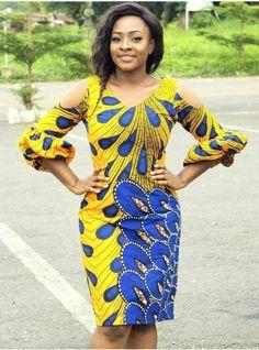 Ankara Short Gown Styles Flirty Ideas For Your Hot Look! Ankara Dress Styles, Ankara Gowns, African Print Dresses, African Dresses For Women, African Attire, African Wear, African Women, African Prints, Ankara Short Gown