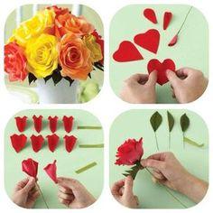 Fazer Buquê de rosas de papel crepom                              …