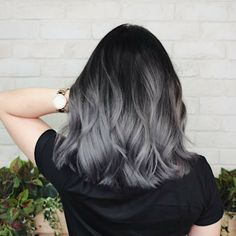 Blonde Hair Color Ideas Discover 10 easy medium wavy hair styles you can copy in 2020 If you need an easy medium hairstyle for yourself in the coming Spring collected about 10 trendy styles for you. Hair Dye Colors, Ombre Hair Color, Hair Color For Black Hair, Black To Grey Ombre Hair, Dark Grey Hair, Black And Silver Hair, Silver Hair Dye, Gray Ombre, Hair Color Ash Grey