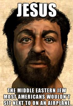 Segun los cristianos es un rubio alto de ojos azules.....un palestino se su epoca? Ahhhh ya, si si, claro....era un jesus estadounidense
