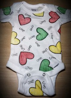 Hey, I found this really awesome Etsy listing at https://www.etsy.com/listing/170863760/baby-onesie-one-love-reggae-hearts