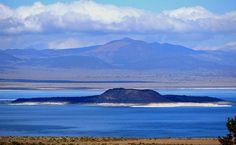 Negit Island, Mono Lake, California.