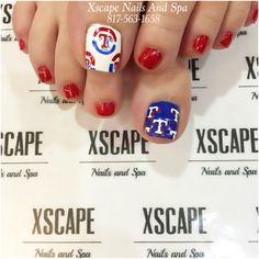 Texas Rangers toe designs