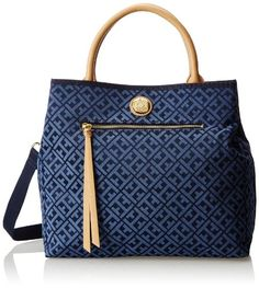 Tommy Hilfiger Tommy Club Double Handle T Shopper Shoulder Bag Tommy Hilfiger Mujer, Tommy Hilfiger Brand, Tommy Hilfiger Handbags, Mk Handbags, Purses And Handbags, Leather Handbags, Hilfiger Denim, Marken Outlet, Louis Vuitton Artsy