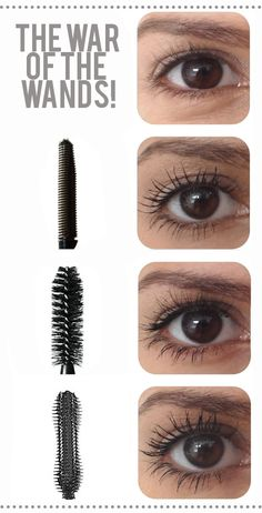 MASCARA WANDS PLASTIC COMB: You can see it really separated the lashes from each other,  NATURAL BRISTLES: soft + light look, which I'm equally a fan of. And it made them look fuller + more voluminous. PLASTIC BRISTLES: This wand kind of married the two above by creating dark, long + full lashes! Very interesting! The only downside is they are stiff (not soft + pet-able).