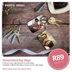 Gift Special: Create fun and unique Personalised Photo Key Rings using your favourite photos. Personalised Keyrings, Green And Purple, Key Rings, Photo Book, Create, Unique, Fun, Photos, Prints