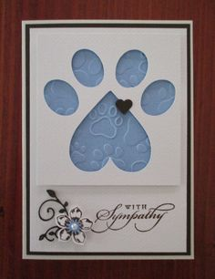 Loss of a Pet - Sympathy Card :'(
