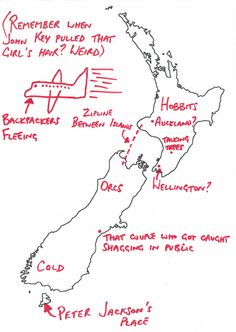 This person at least got Wellington about right. Map Of New Zealand, Rr Tolkien, What Makes You Laugh, Kiwiana, In A Nutshell, The Hobbit, I Laughed, Fails, Texts