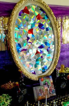 Evie's broken mirror for a Descendants viewing party!