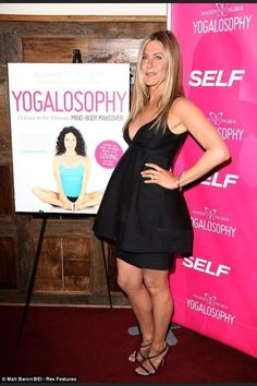 "SELF Magazine & Jennifer Aniston celebrate the launch of yoga instructor Mandy Ingber's new book ""Yogalosophy"" in NYC, 2013"