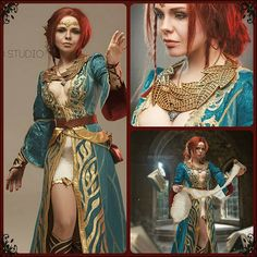 Being inspired by the Witcher. Wild Hunt computer game, Fenix Fatalist decided to create something really special: the bewitching look of Triss Cosplay, Triss Merigold Cosplay, Real Pirate Ships, The Witcher Wild Hunt, Witcher Art, Medieval Costume, Cosplay Tutorial, Beautiful Costumes, Famous Models
