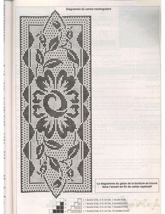 (4) Gallery.ru / Фото #132 - phildar sp ambiance - igoda Filet Crochet, Crochet Tablecloth, Crochet Doilies, Stitch 2, Cross Stitch, Embroidery Patterns, Lace Trim, Projects To Try, Table Runners