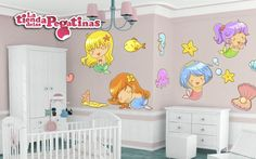 Vinilo decorativo infantil. Adorables pegatinas infantiles para la pared de la habitación de bebe