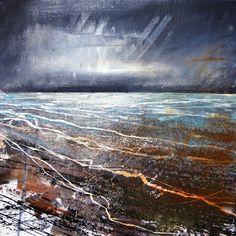 Image of Anthony Garratt - Winter Study Contemporary Abstract Art, Contemporary Landscape, Abstract Landscape, Seascape Paintings, Landscape Paintings, Art Paintings, Art Courses, Artist Gallery, Beach Art