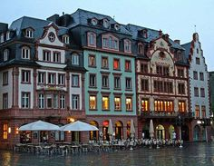 Old town - Mainz, Germany. Love the look of the houses!