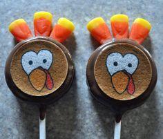 Turkey Oreo Pops!