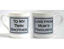 Mug - To my Twin Brother £9.99 available from www.twinsgiftcompany.co.uk