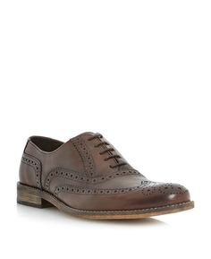 13e157ed84a33 Dune Braker oxford lace up brogues, Brown Men Dress, Dress Shoes, Dune,