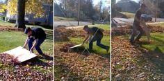 No leaf blower necessary!