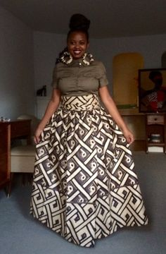 Versatile maxi Skirt by AfroPieces on Etsy