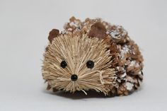 Natural Pinecone Hedgehog by NaturalCraftOnline on Etsy
