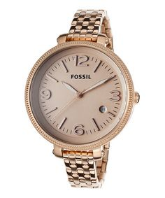This Rose Gold Heather Bracelet Watch by Fossil is perfect! #zulilyfinds