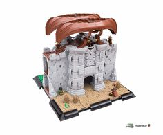 A boatload of interesting details in this LEGO Castle gatehouse