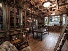 steampunktendencies:  Doug Sr. Home Library